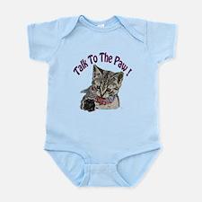 Talk To The Paw Kitten Infant Bodysuit