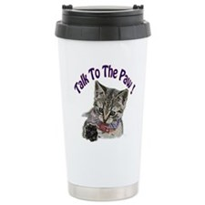 Talk To The Paw Kitten Travel Mug