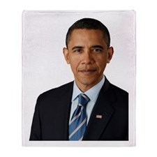 Cute Barack obama Throw Blanket