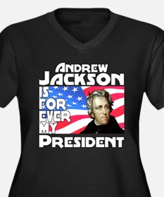 Andrew Jackson 4ever Women's Plus Size V-Neck Dark