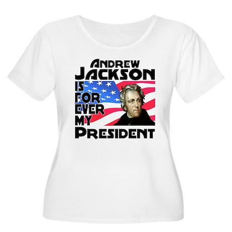 Andrew Jackson 4ever Women's Plus Size Scoop Neck