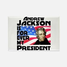 Andrew Jackson 4ever Rectangle Magnet