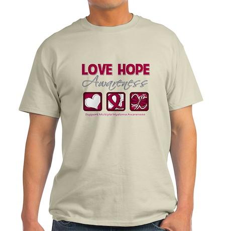 Multiple Myeloma Love Hope Light T-Shirt