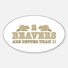 2 Beavers Decal