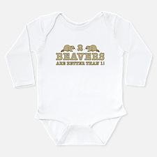 2 Beavers Long Sleeve Infant Bodysuit