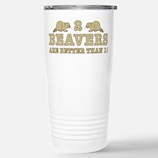 2 Beavers Travel Mug