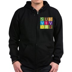 Multiple Myeloma Survivor Til Zip Hoodie