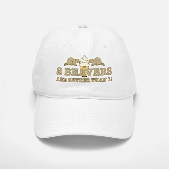2 Beavers Baseball Baseball Cap