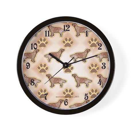 Golden Retriever and Paw Design Clock