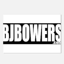 BJBOWERS BLK Postcards (Package of 8)