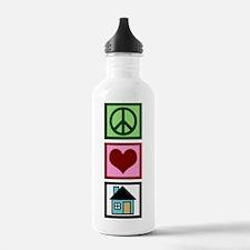 Peace Love Real Estate Sports Water Bottle