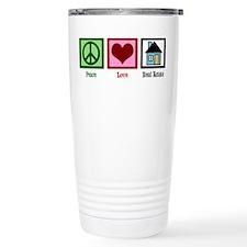 Peace Love Real Estate Travel Mug