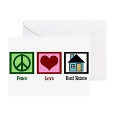 Peace Love Real Estate Greeting Cards (Pk of 10)