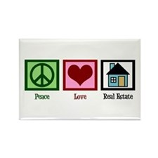 Peace Love Real Estate Rectangle Magnet
