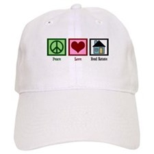 Peace Love Real Estate Baseball Cap