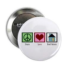 """Peace Love Real Estate 2.25"""" Button"""