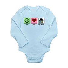 Peace Love Real Estate Long Sleeve Infant Bodysuit