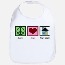 Peace Love Real Estate Bib