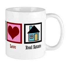 Peace Love Real Estate Mug