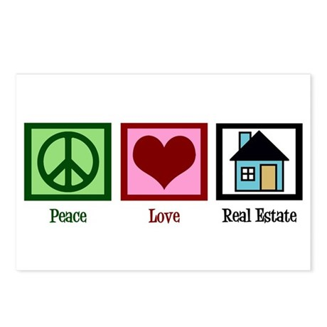 Peace Love Real Estate Postcards (Package of 8)
