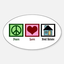 Peace Love Real Estate Decal