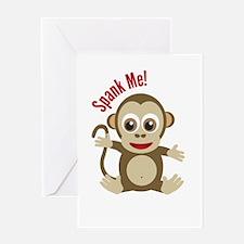 Cool Cheeky monkey Greeting Card