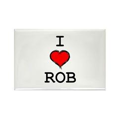 I Heart Rob Rectangle Magnet