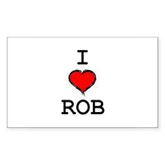 I Heart Rob Decal