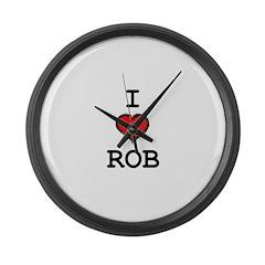 I Heart Rob Large Wall Clock