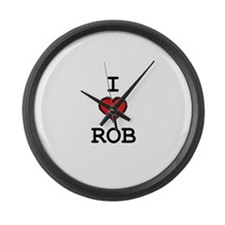 I Heart Rob Large Wall Clock