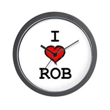 I Heart Rob Wall Clock