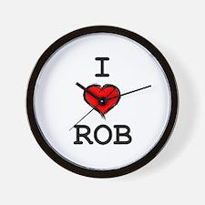 I Heart Rob Wall Clock