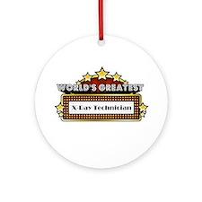 Greatest X-Ray Technician Ornament (Round)