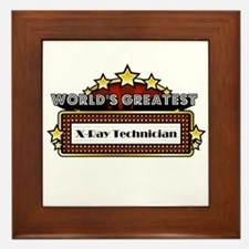 Greatest X-Ray Technician Framed Tile