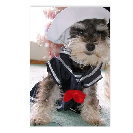 Schnauzer Sailor Postcards (Package of 8)