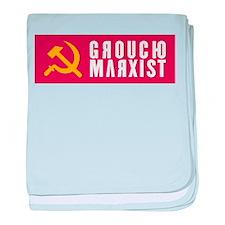 Groucho Marxist Type baby blanket