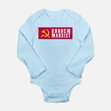 Groucho Marxist Type Long Sleeve Infant Bodysuit