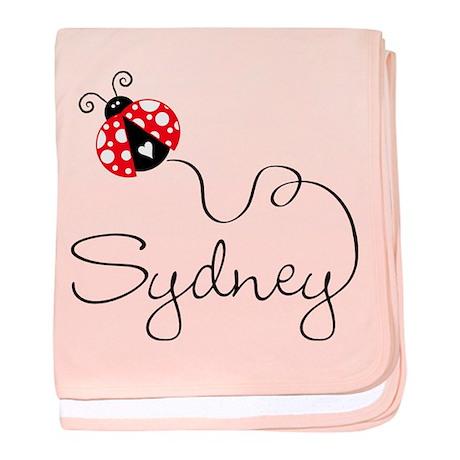 Ladybug Sydney baby blanket