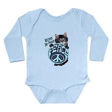 Kittens for Peace Long Sleeve Infant Bodysuit