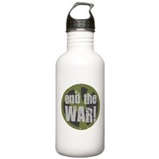 END THE WAR Peace Water Bottle