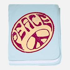 Distressed Peace Symbol #V12 baby blanket