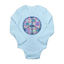 Multi Peace On Earth Sign Long Sleeve Infant Bodys