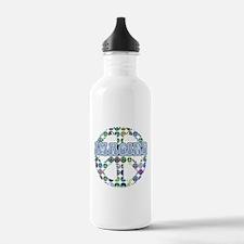 Retro Peace Sign Imagine Water Bottle