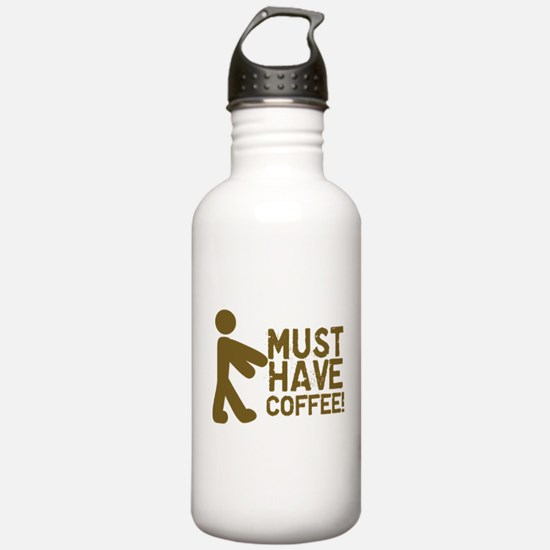 Must Have COFFEE! Zombie Water Bottle