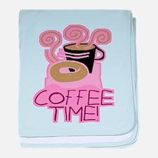 COFFEE TIME! Coffee Break baby blanket