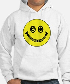 30th birthday smiley face Hoodie