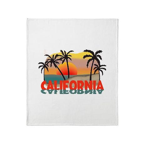 California Beaches Sunset Throw Blanket