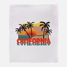 California Beaches Sunset Throw Blanket