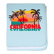 California Beaches Sunset baby blanket
