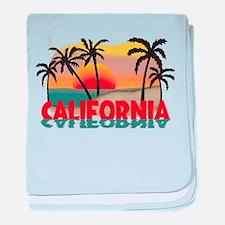 California Beaches Sunset baby blanket